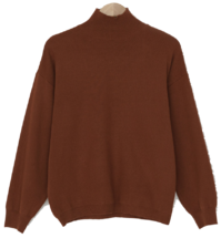 Daily loose fit half neck knit