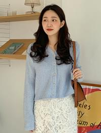 Crumby wool button cardigan_P (size : free)