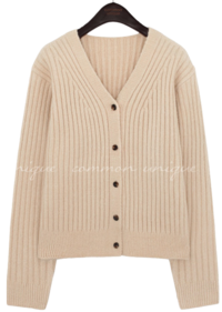 NOUR GOLGI V NECK KNIT CARDIGAN