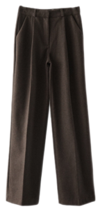 soft wool pintuck slacks
