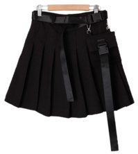 Pocket pleated skirt