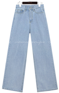 Mid Rise Wide-Leg Denim Pants
