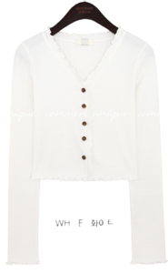 LOENI SLIM WAVE CROP CARDIGAN