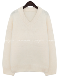 LUCO WOOL V NECK LOOSE FIT KNIT