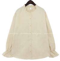 ROELS FRILL COTTON BLOUSE blouses