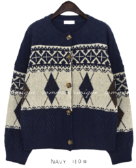 PUDDY WOOL ARGAIL KNIT CARDIGAN