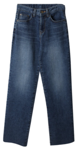 Uran brushed wide denim pants