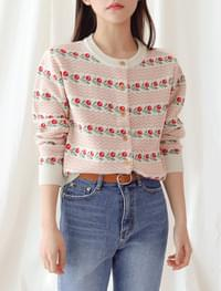 Blooming pattern cardigan _Y