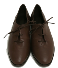 Sheep skin lace-up shoes_Y