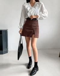 Peach Bolt Skirt Pants