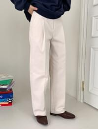 Today pin-tuck cotton pants_U