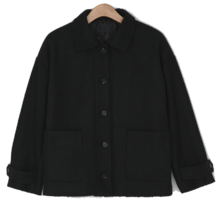 Quilted lining Big pocket wool jacket-jk