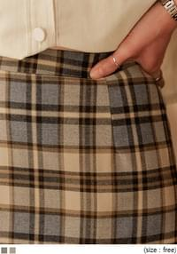 LOKONE CHECK BANDING LONG SKIRT スカート