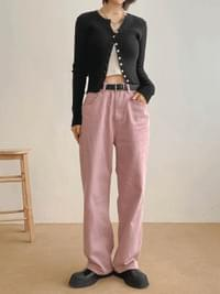 Wide Mary Cotton Pants