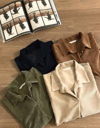 Wendy corduroy color blouse