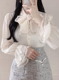 Hershey Lace Ribbon Blouse