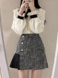 Honey tweed color skirt