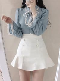 Milk Lace Skirt Pants