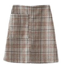 soft check middle skirt