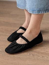 Shirring band flat shoes_J (size : 225,230,235,240,245,250)