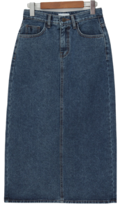 Back slit denim skirt_J (size : S,M,L)