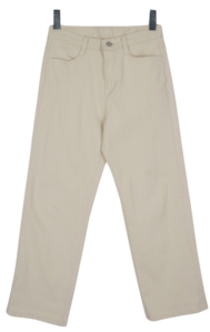 Coin-pitch cotton pants
