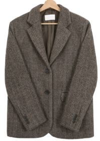 Hairy Herringbone Half Wool Jacket jacket