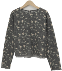 Flory knit round blouse_A (size : free)