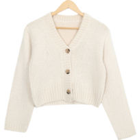 Ruri Cropped Knit Cardigan