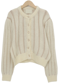 Shine gold wool cardigan_J (size : free)