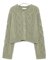 a cable round knit cardigan