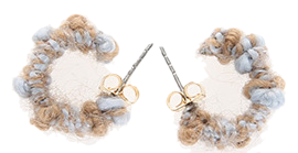 Knit scheme earrings