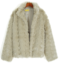 Soft fur jacket jacket
