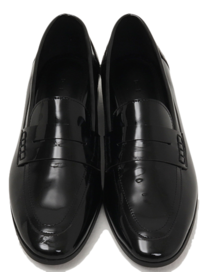 Glossy enamel slim loafer_U