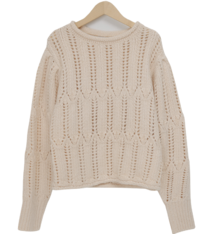 Corn balloon wool knit_P (size : free)