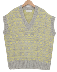 Pattern Wool Knit vest