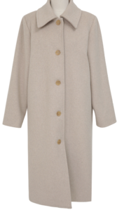 Clam wool long coat_U (size : free)