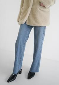 cut-off semi boots-cut denim (2colors)