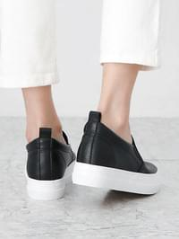 Daily leather height slip-on 5cm
