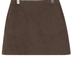 Wool pocket mini skirt_J (size : S,M)