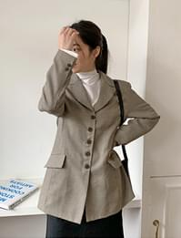 Calm herringbone button jacket_U