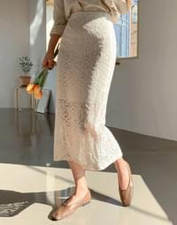 Bleeflower Lace Long Skirt