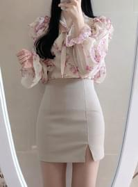 Humming Trim Mini Skirt