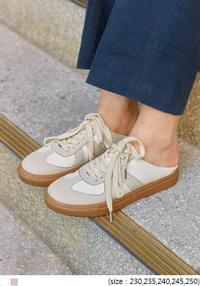 MOSCA SUEDE MIX MULE SNEAKERS
