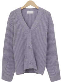 Some wool loose cardigan_H (size : free)
