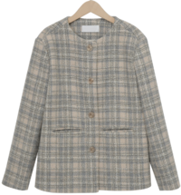Chloe check wool jacket_Y (size : free)
