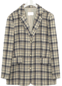 look boxy check jacket