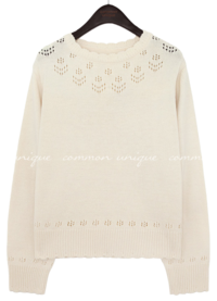 ROWSON PUNCHING ROUND NECK KNIT