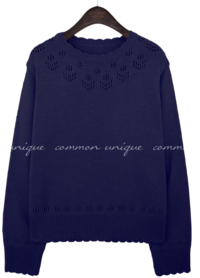 ROWSON PUNCHING ROUND NECK KNIT 針織衫