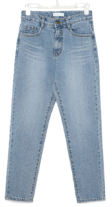 allow silm line denim pants